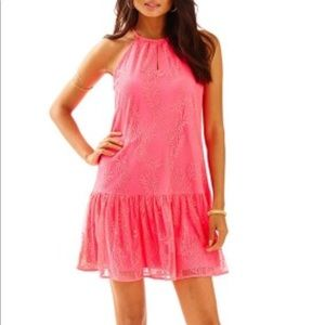 Lilly Pulitzer NWT Isabeau Dress Hot Pink XS
